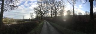 road at new year